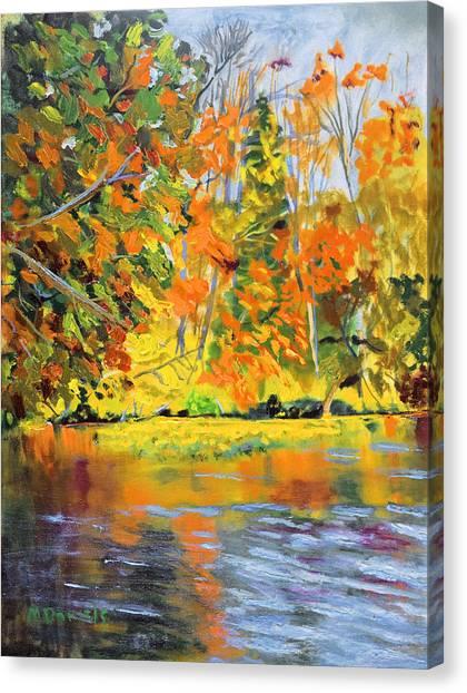Lake Aerofloat Fall Foliage Canvas Print