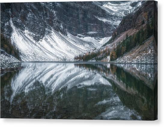 Alberta Canvas Print - Lake Agnes No 1 by Chris Fletcher
