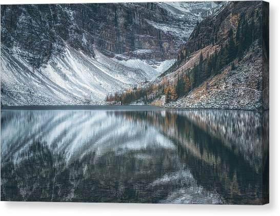 Alberta Canvas Print - Lake Agnes No 3 by Chris Fletcher