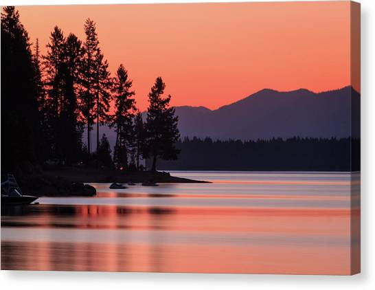 Lake Almanor Twilight Canvas Print