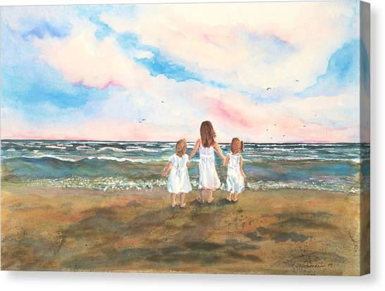 Lake Angels Canvas Print by Sandra Strohschein