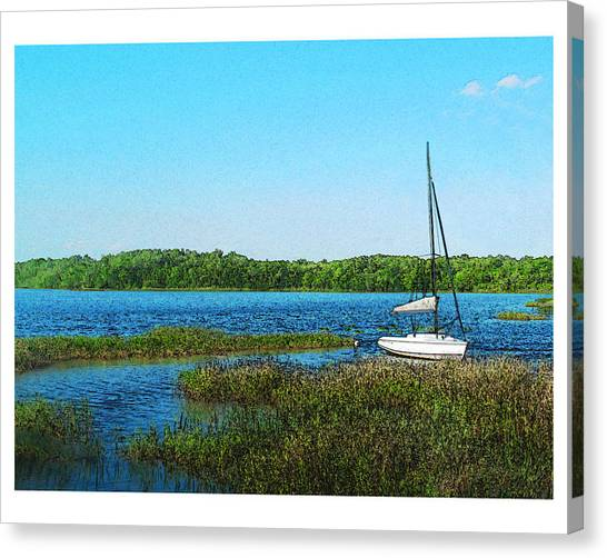 Lake At Hamony Fl Canvas Print by Deborah Hildinger