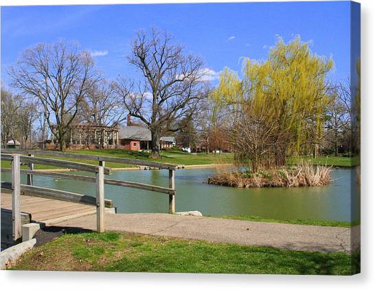 Lake At Schiller Park Canvas Print
