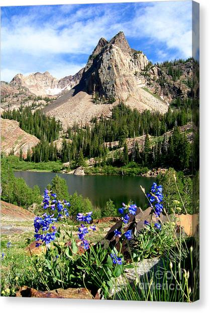 Lake Blanche And Sundial Peak Canvas Print