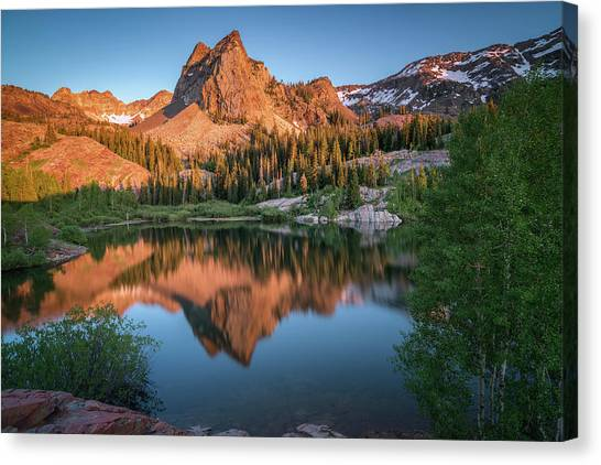 City Sunset Canvas Print - Lake Blanche At Sunset by James Udall