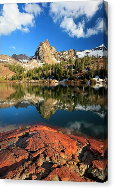 Lake Blanche Spring Vertical Canvas Print