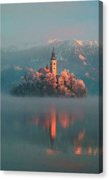Star Wars Canvas Print - Lake Bled  by Andy Bucaille