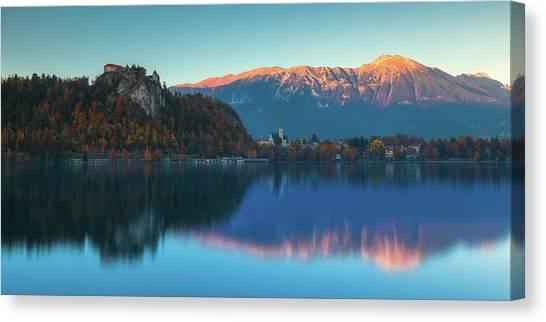 Lake Bled Panorama Canvas Print