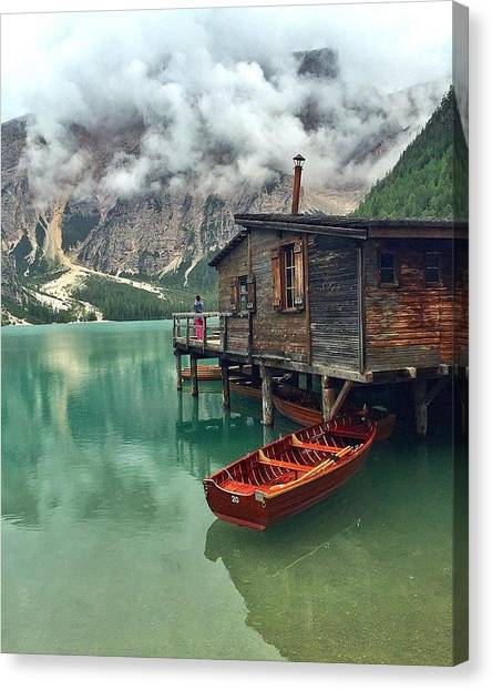 Star Wars Canvas Print - Lake Braise Italy  by Andy Bucaille