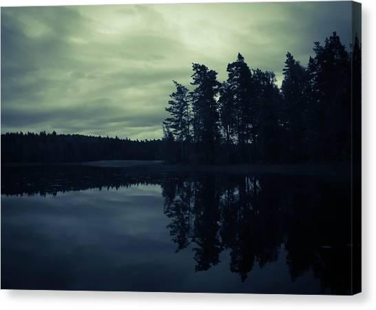 Swedish Canvas Print - Lake By Night by Nicklas Gustafsson