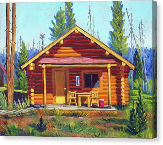 Lake Cabin Canvas Print
