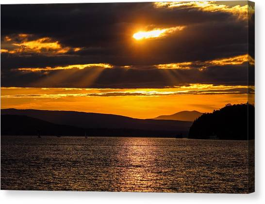 Lake Champlain Sunset Canvas Print