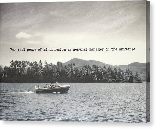 Lake Cruise Quote Canvas Print by JAMART Photography