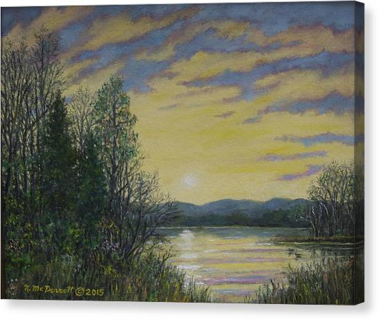 Lake Dawn Canvas Print
