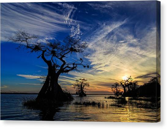 Lake Disston Sunset Canvas Print