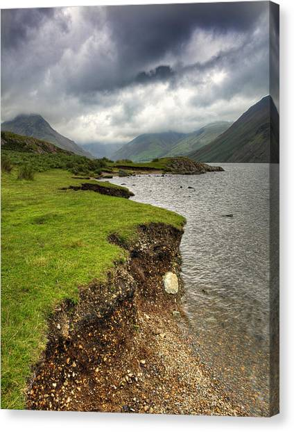 Lake District England Waswater Canvas Print by Tom  Wray