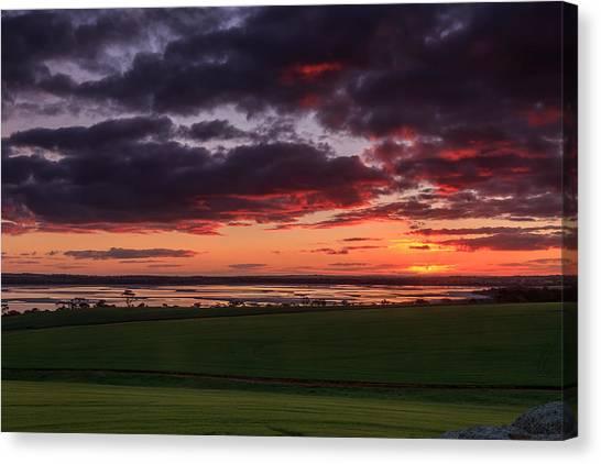 Lake Dumbleyung Sunset Canvas Print