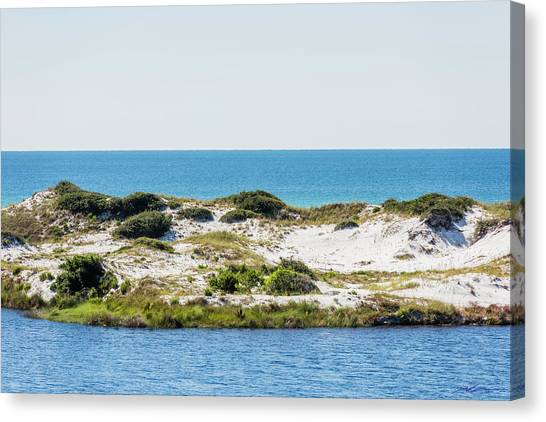 Lake Dunes Gulf Sky Canvas Print