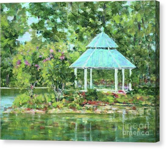 Lake Ella Gazebo Canvas Print