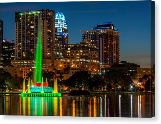 Lake Eola Fountain Canvas Print