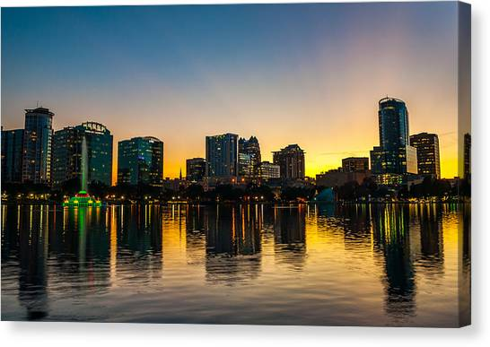 Lake Eola Sunset Canvas Print