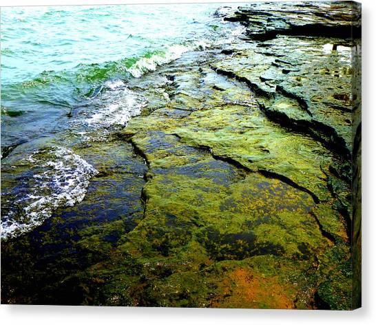 Lake Erie Flat Rocks  Canvas Print