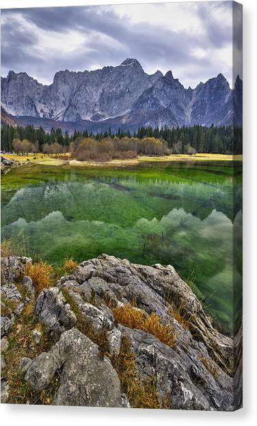 Lake Fusine Canvas Print