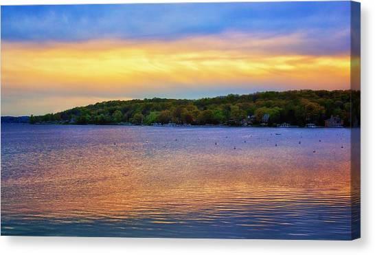 Lake Geneva Sunset Canvas Print