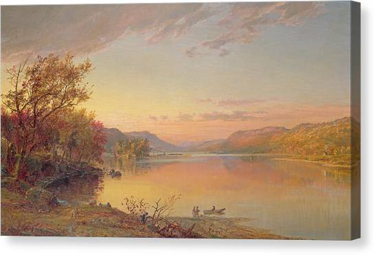 Clams Canvas Print - Lake George  Ny by Jasper Francis Cropsey