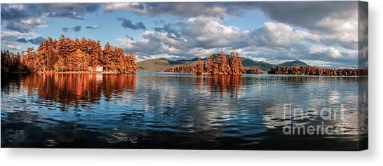 Lake George Panorama  Canvas Print