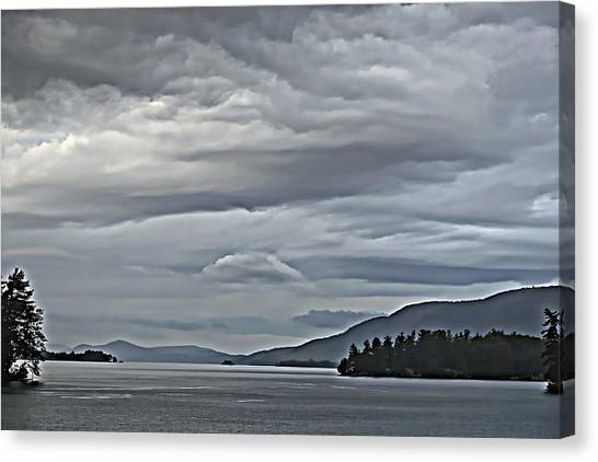 Lake George Rain And Clouds Canvas Print
