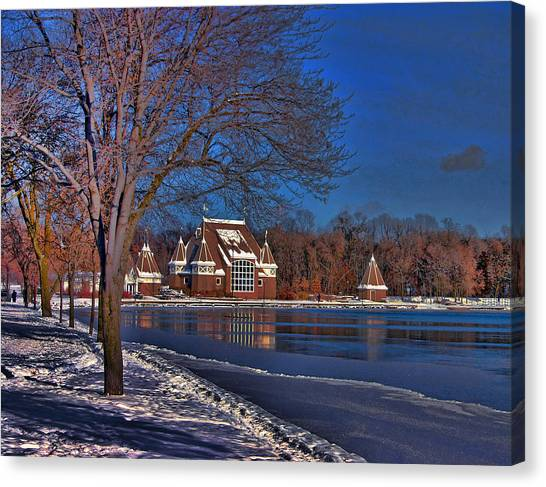 Lake Harriet Bandshell Canvas Print by Laurie Prentice