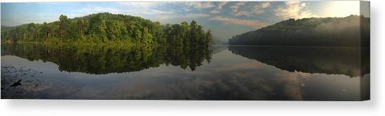 Lake Hope Sunrise Panorama Canvas Print