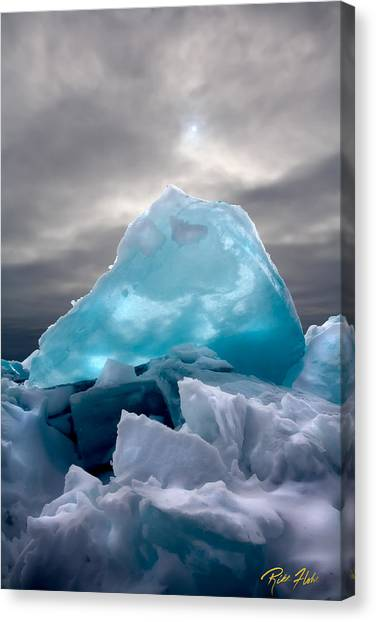 Lake Ice Berg Canvas Print