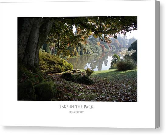 Lake In The Park Canvas Print