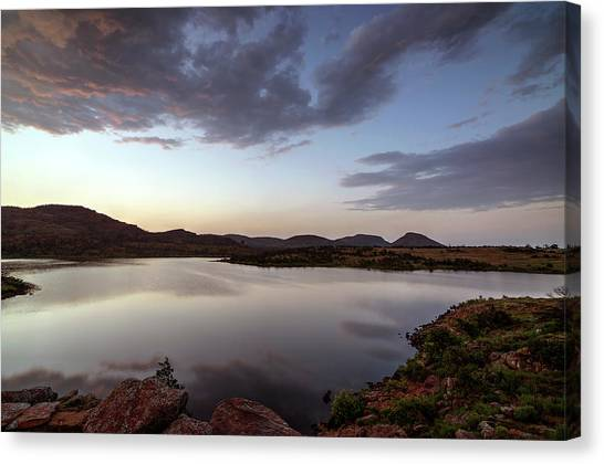 Lake In The Wichita Mountains  Canvas Print