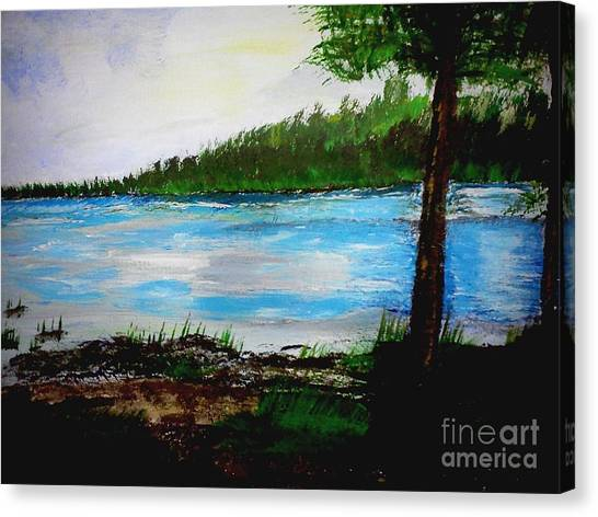 Lake In Virginia The Painting Canvas Print