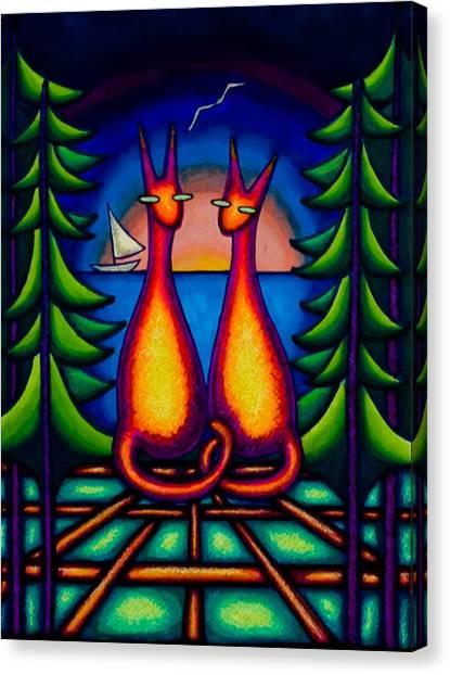 Lake Kats Canvas Print