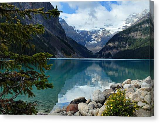 Rocky Mountain Canvas Print - Lake Louise 2 by Larry Ricker