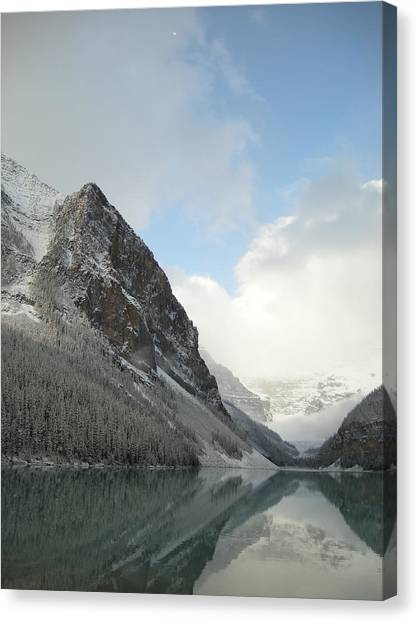 Lake Louise After First Snowfall  Canvas Print