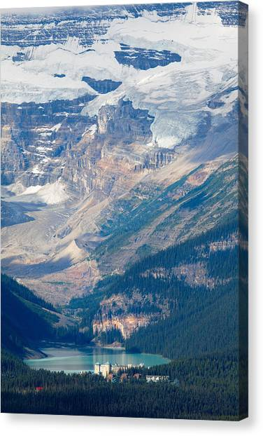Alberta Canvas Print - Lake Louise With The Victoria Glacier by George Oze