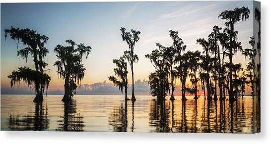 Lake Maurepas Sunrise Canvas Print