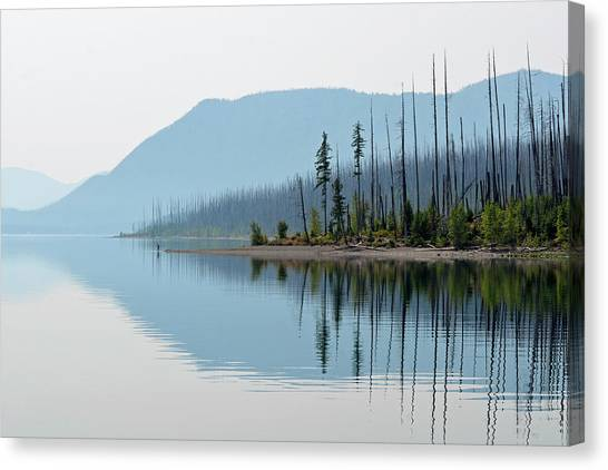 Lake Mcdonald Twin Reflections Canvas Print