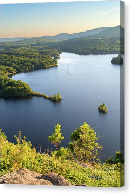 Lake Megunticook, Camden, Maine  -43960-43962 Canvas Print