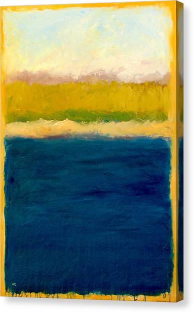 Lake Michigan Beach Abstracted Canvas Print