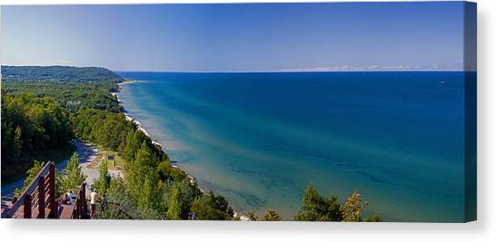 Lake Sunsets Canvas Print - Lake Michigan From Arcadia Overlook by Twenty Two North Photography