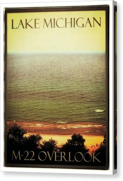Lake Michigan M-22 Overlook Canvas Print