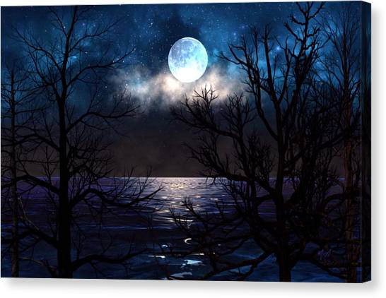 Lake Midnight Canvas Print