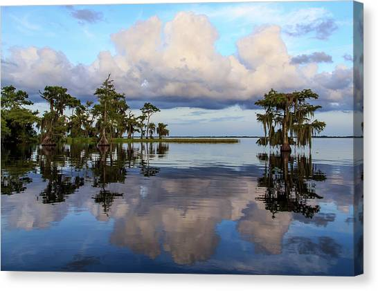 Lake Mirror Canvas Print