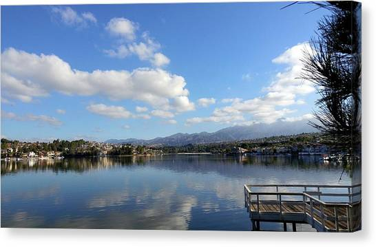 Lake Mission Viejo Cloud Reflections Canvas Print